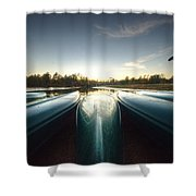 Resting Canoes Shower Curtain