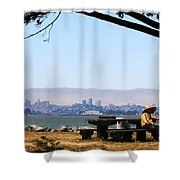 Resting On The Emeryville Penninsula Shower Curtain