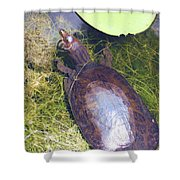 Resting On Weeds Shower Curtain