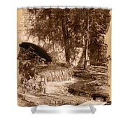 Resting Place - Digital Charcoal Drawing Shower Curtain