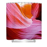 Resting Place In Lower Antelope Canyon In Lake Powell Navajo Tribal Park-arizona  Shower Curtain