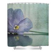 Resting Shower Curtain by Priska Wettstein