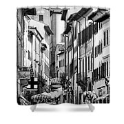 Restless In Arezzo-italy Shower Curtain