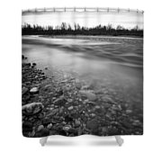 Restless River Shower Curtain by Davorin Mance