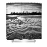 Restless River IIi Shower Curtain