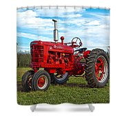 Restored Farmall Tractor Hdr Shower Curtain