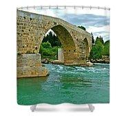 Restored Roman Bridge Over Eurynedan River-turkey Shower Curtain