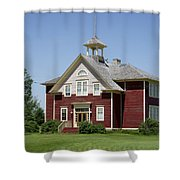 Restored Small Town School Shower Curtain