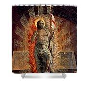 Resurrection Shower Curtain by Andrea Mantegna