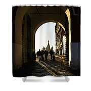 Resurrection Gate - Square Shower Curtain