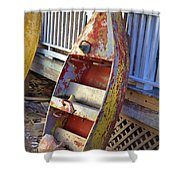 Retired Amusement Ride Boat Shower Curtain