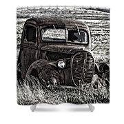 Retired Farm Truck Shower Curtain