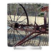 Retired Hay Rake Shower Curtain