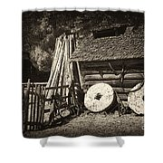 Retired Mill Stones Shower Curtain