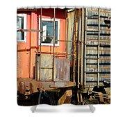Retired Railroad Shower Curtain