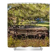 Retired Wagon At Thousand Trails Shower Curtain