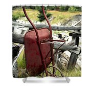 Retired Wheelbarrow Shower Curtain