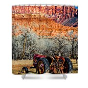 Retired With A View Shower Curtain