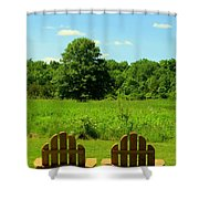 Retirement Time Shower Curtain