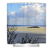 Retreating Tide Shower Curtain