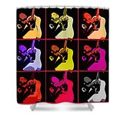Retro 50s Rockabilly Shower Curtain by Tommytechno Sweden