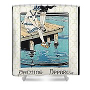Retro Bathing Apparel Sign Shower Curtain