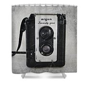 Retro Camera Shower Curtain