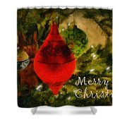 Retro Christmas Shower Curtain