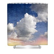 Retro Clouds 2 Shower Curtain