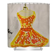 Retro Fall Fashion Shower Curtain