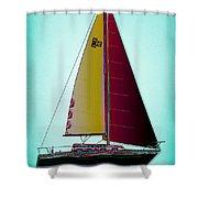 Retro Newport3 Shower Curtain