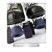 Retro Roller Skates Shower Curtain by Jose Elias - Sofia Pereira