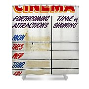 Retro Roxy Cinema Sign Shower Curtain