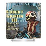 Retro Sci Fi Rg3 Shower Curtain