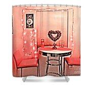 Retro Valentine Shower Curtain