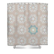 Retro Wallpaper Shower Curtain