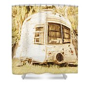 Retrod The Comic Caravan Shower Curtain