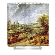 Return From The Harvest Shower Curtain