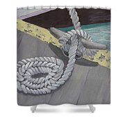 Return To Port Shower Curtain