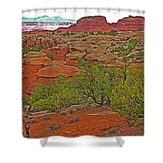 Return Trail To Elephant Hill In Needles District Of Canyonlands National Park-utah Shower Curtain