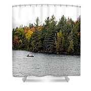 Returning From A Canoe Trip Shower Curtain