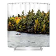 Returning From A Canoe Trip - V2 Shower Curtain