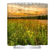 Retzer Wildflower Sunset Shower Curtain