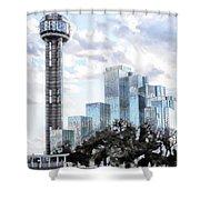 Reunion Tower Dallas Texas Shower Curtain