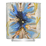 Revelation 8-11 Shower Curtain