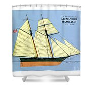 Revenue Cutter Alexander Hamilton Shower Curtain