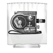 Revere 8 Movie Camera Shower Curtain