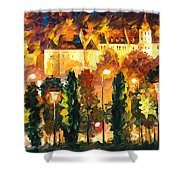 Revived Legend - Palette Knife Oil Painting On Canvas By Leonid Afremov Shower Curtain