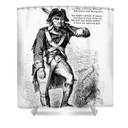Revolutionary Soldier Shower Curtain