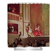 Revue At The Theatre Des Varietes, C.1885 Oil On Canvas Shower Curtain